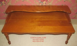 Ethan Allen Baumritter Heirloom Nutmeg Maple Coffee Table Bench Cosmetic Issues