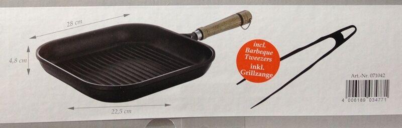 Berndes 071042 071042 Berndes rustika Grill poêle avec gratuit steak pince 28 x 28 CM 1d9b6b