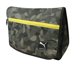 d0620ae69 Image is loading Puma-Foundation-Shoulder-Bag-Camo-Olive-Laptop-Compartment-