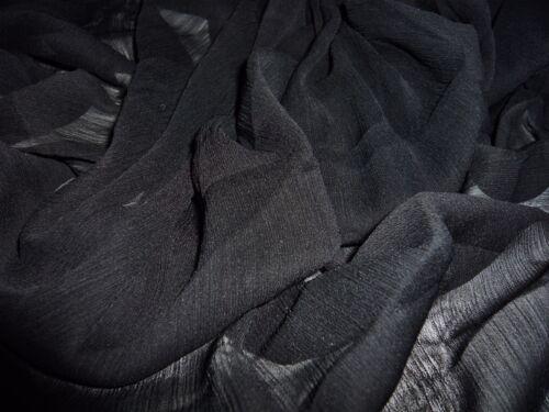 FREE P+P CRINKLE CHIFFON DRESS//BRIDAL FABRIC-BLACK