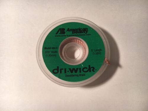 """American Beauty Dri-Wick Desoldering Braid 5/' Lenght x .075/"""" Width 484-3"""