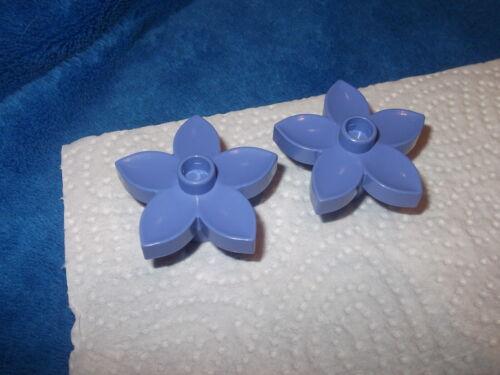 Lego Duplo 2 x Flower Blossom Plant Lavender Lavender Purple Violet 6510 Castle