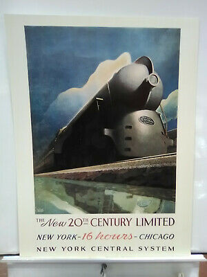 New York Central System Railroad Train Leslie Ragan Poster Art Deco Print 245NBT