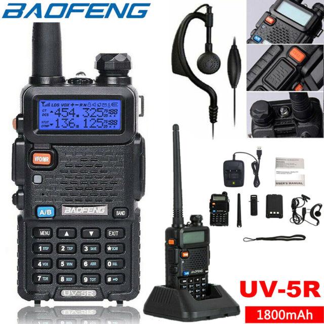 Baofeng UV5R 136-174//400-520 MHz Dual-Band DTMF CTCSS DCS FM Ham Two-Way Radio