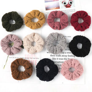 Women-Candy-Color-Faux-Fur-Rubber-Band-Hair-Rope-Soft-Velvet-Hair-Scrunchies-New