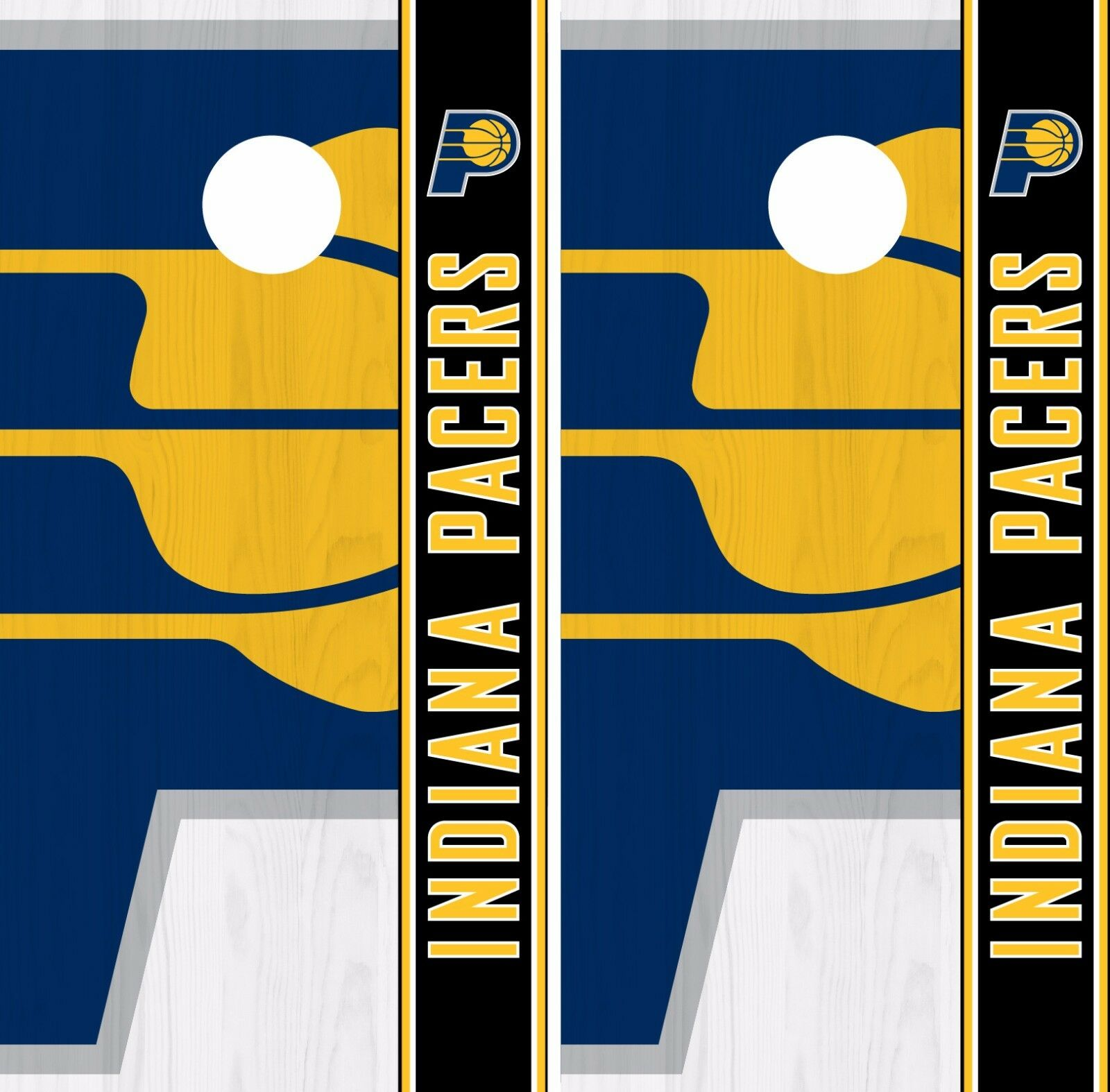 Indiana Pacers Cornhole Skin Wrap NBA Basketball Logo Team colors Vinyl DR286