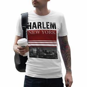 Harlem New York Mens T Shirt America State Fashion Street Swag Dope ... b8b093d9aac