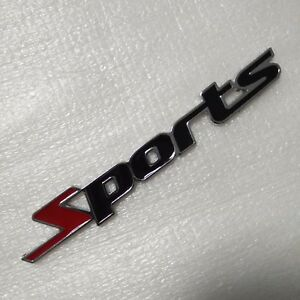 Sport-version-Pure-3D-car-tail-stickers-SPORTS-car-modified-car-standard-red-034-S-034