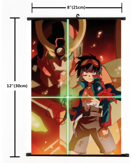 60x90cm Tengen Toppa Gurren Lagann Anime Wall Scroll poster Home Decor ART Gift
