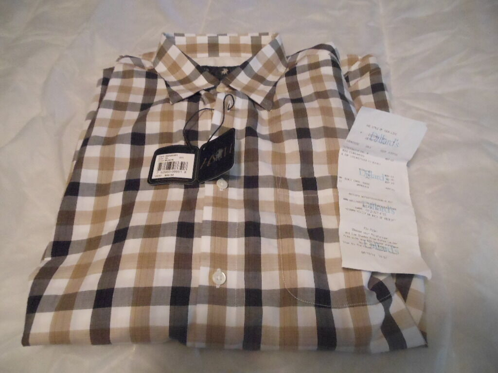 NEW HSM Hart Schaffner Marx Button-Front Long Sleeve XL Button-Front Marx 593212