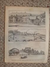 1879 ANTIQUE PRINT PLEASANTVILLE FRANKLIN PENNSYLVANIA