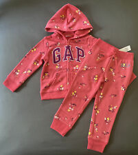 Toddler Girl 3 Years Baby Gap Multicolor Floral Print Arch Logo Zip Up Hoodie