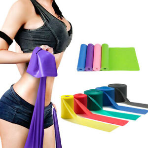Rubber Elastic Yoga Pilates Band Stretch Resistance Exercise Fitness Belt 2M