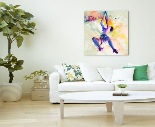 Klettern I 60x60cm Aquarell Art Leinwandbild