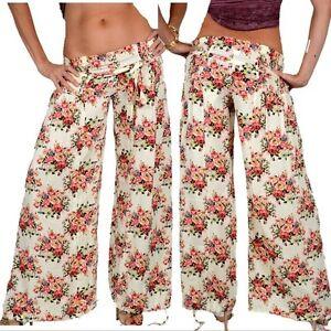 42 S Fiori Pantaloni sogno Xs Pantaloni Harem 38 Risvolti 36 larghi 34 rosa 40 L da M qqRawzB