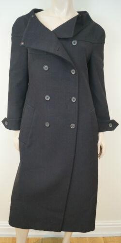 vergine invernale in lana Cappotto da maniche lungo Prada lunghe marrone nera P49 donna a e TSqp4Ww
