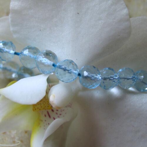 perforado 5mm Sky azul claro topacio bala facetado perla aprox