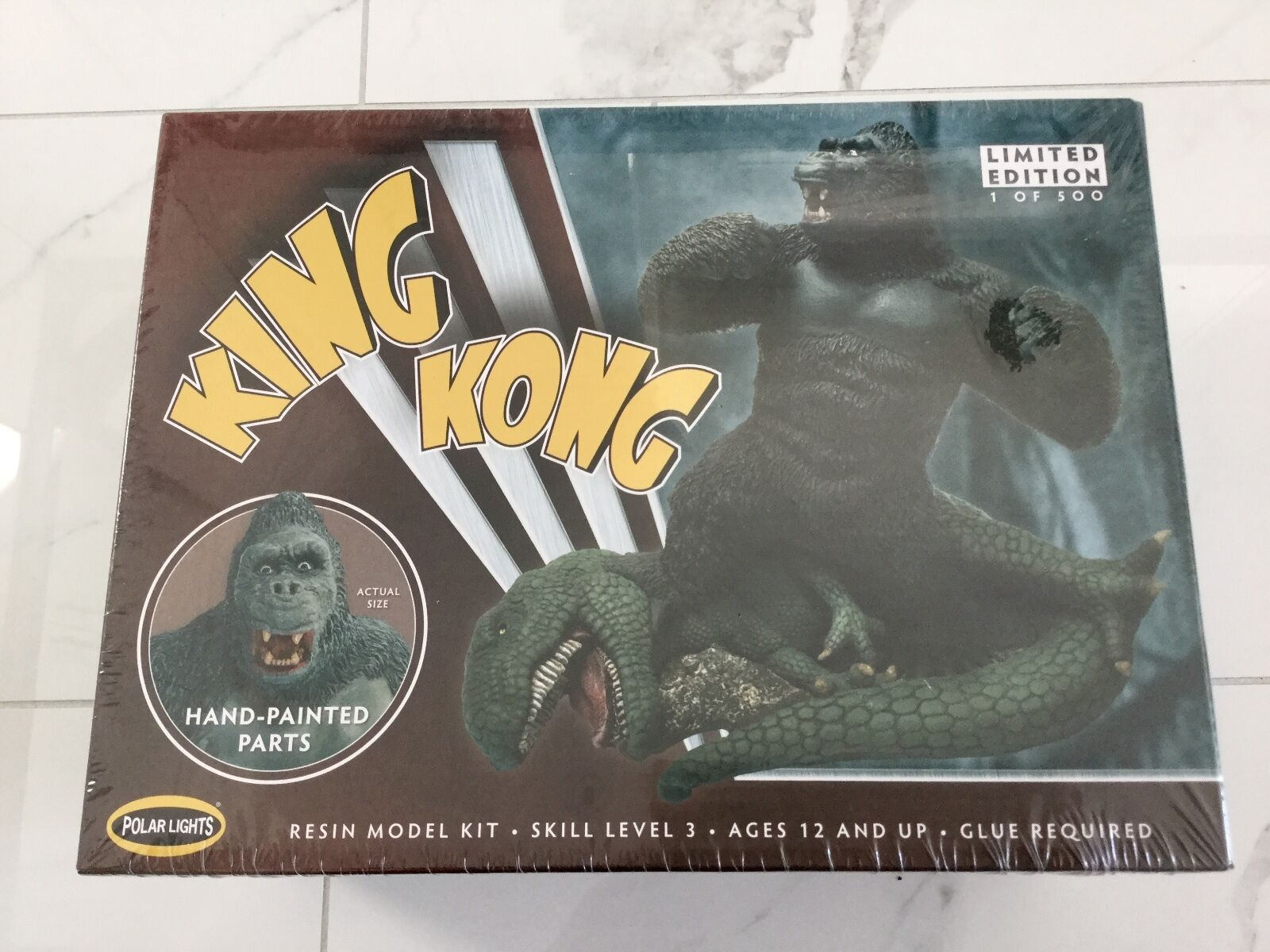 POLAR LIGHTS 1 72 KING KONG ALMOST 9  TALL W  DIORAMA BASE RESIN MODEL F S
