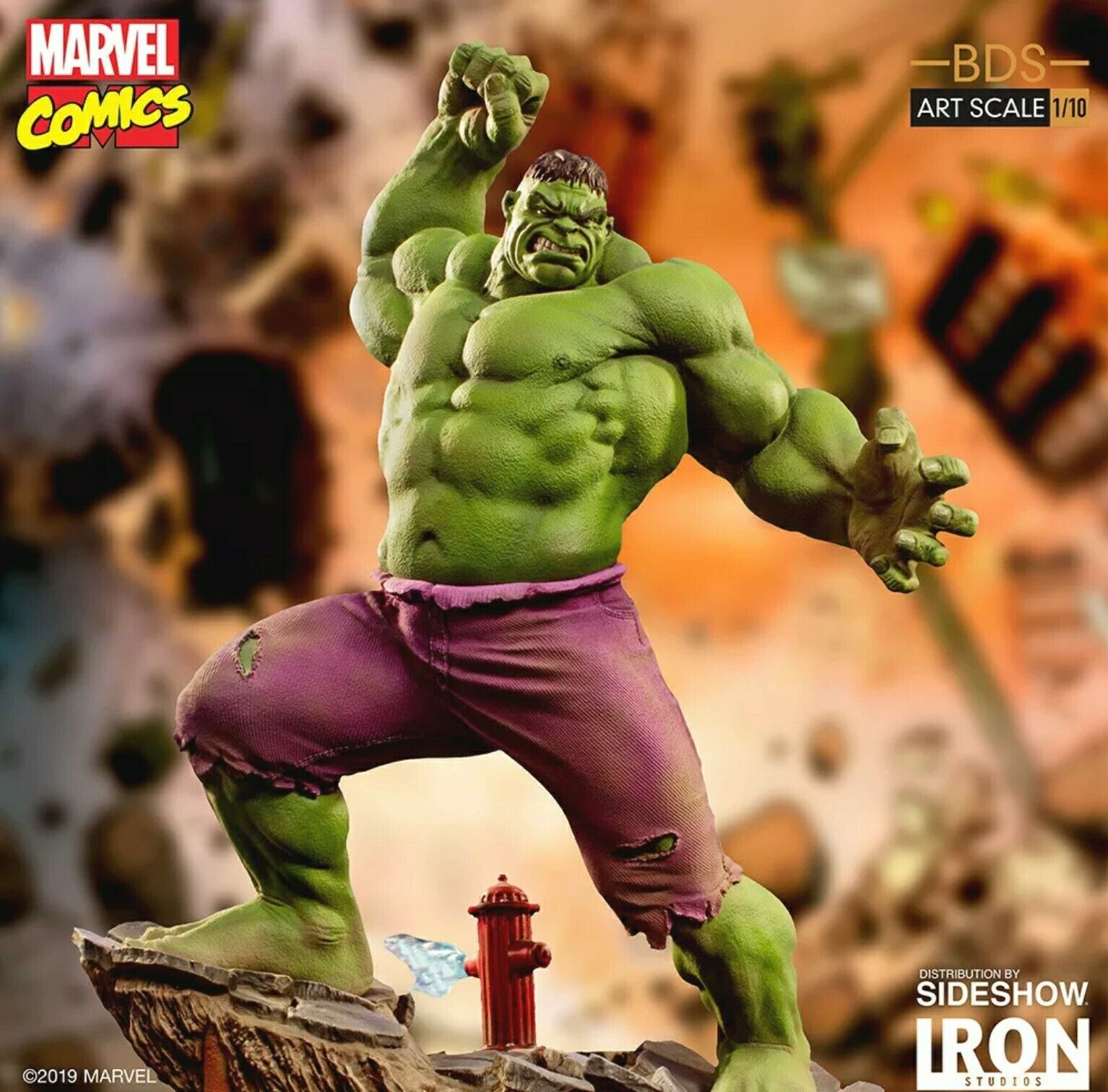 Iron Studios Marvel Comics INCREDIBLE HULK 1/10th BDS Art Scale Statue on eBay thumbnail