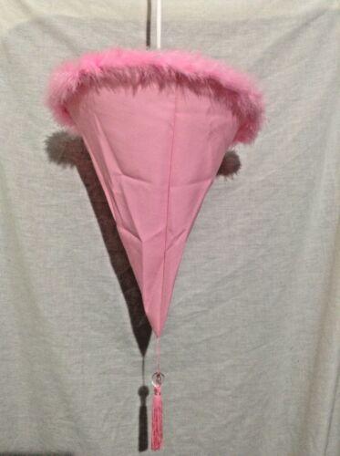 Tissu Rose Filles Chambre pendentif plafond abat-jour 35 cm x 53 cm Long Entièrement neuf sous emballage