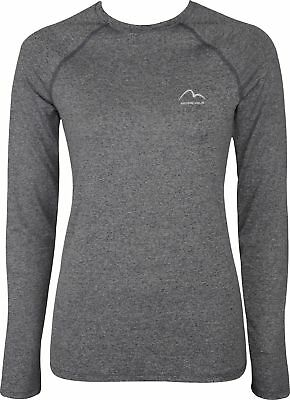 More Mile Train To Run Womens Long Sleeve Running Top - Grey