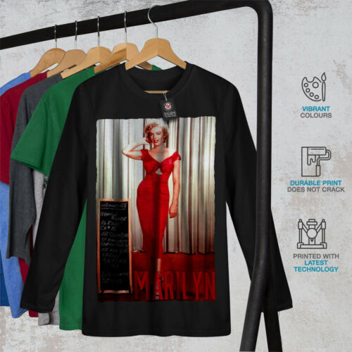 America Graphic Design Wellcoda Marilyn Dress Mens Long Sleeve T-shirt