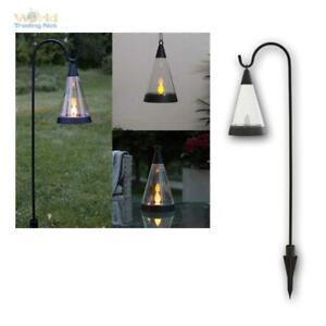 LED Solarleuchte mit Flammeneffekt Solar-Gartenfackel mit 30 LED