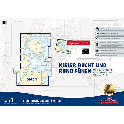 Sportbootkarten Ostsee - Seekarten Ostsee - Delius Klasing Ausgabe 2016 neu