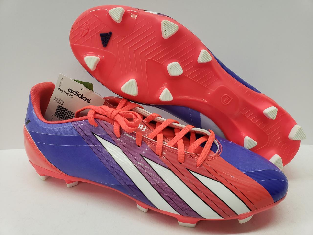 a891adb80 Adidas G97729 F10 TRX Firm Messi Soccer shoes Cleats Purple Pink Mens FG  Ground nvicqd2988-Men
