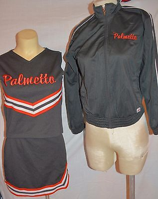 Cheerleading Team Sports Charitable Real Cheerleader Uniform Youth Xl Size 00 Adult Orange Black Palmetto Have Fun Refreshing And Beneficial To The Eyes