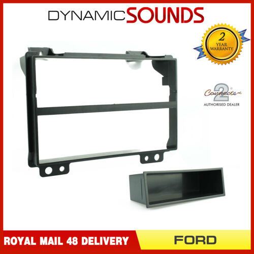 Fusion CT24FD07 Black Single Din Fascia Adapter Fitting Panel for Ford Fiesta