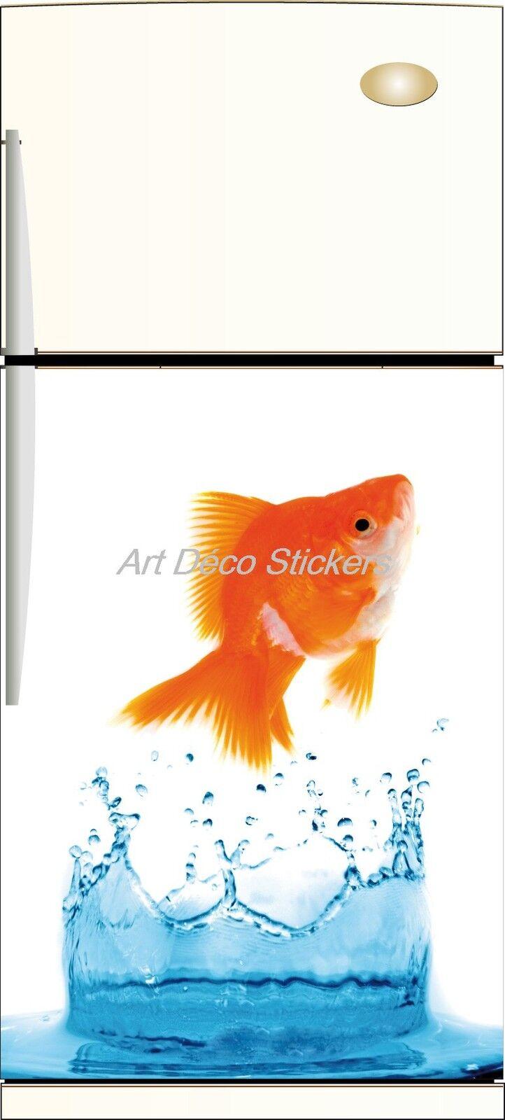 Aufkleber Kühlschrank Haushaltsgeräte Fisch 60x90cm Ref 062