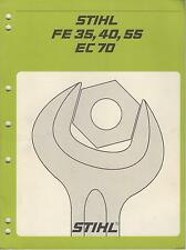 Stihl string trimmer brushcutter spare parts list manual guide.