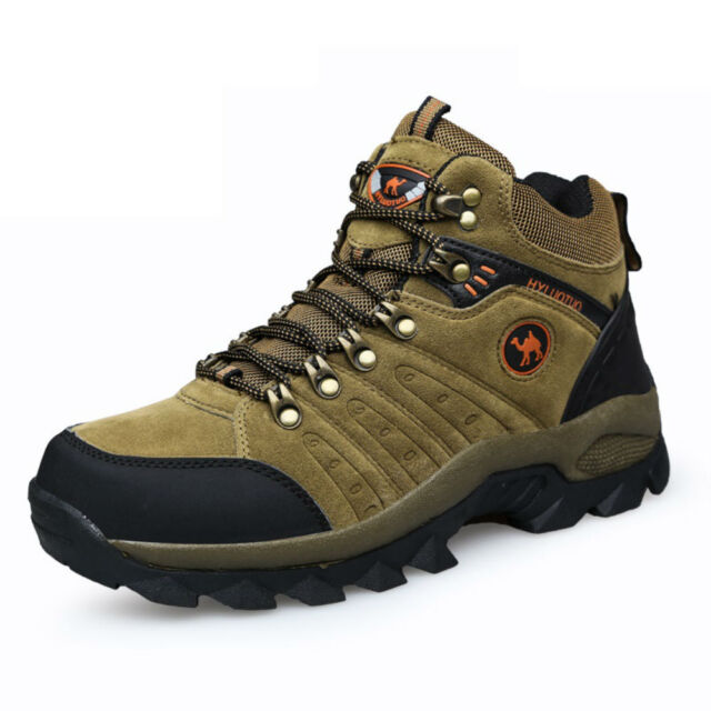 7b3557c9c7f Men's lightweight leather waterproof mid cut top comfortable hiking boots  shoes