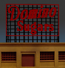 FLASHES /& MORE! DOMINO SUGARS ROOFTOP ANIMATED NEON SIGN FOR HO//N SCALE-LIGHTS