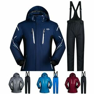 Image is loading Men-Ski-Suit-Winter-Waterproof-Windproof-Jacket-Thicken- 868c0b619