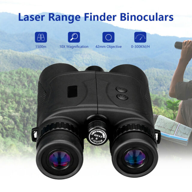 10x42 1500M Distance Range Finder Binoculars Support Speed Measuring For Hunting