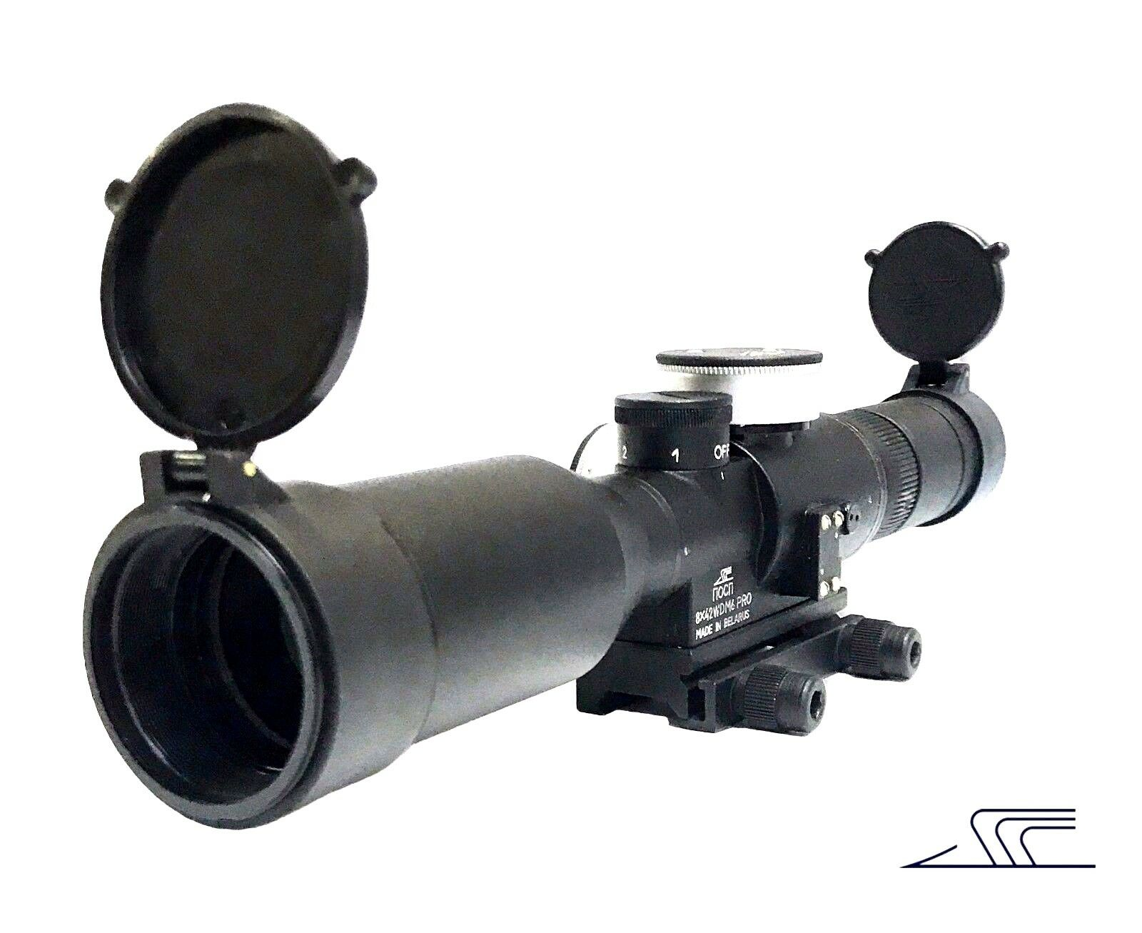 RUSSIAN BelOMO POSP 8x42 WDM6 PRO Sniper Rifle Scope Optical Sight Weaver Mount