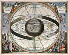 """Beautiful Ancient Map of the Universe and Zodiac CANVAS ART PRINT 24""""X18"""" #7"""