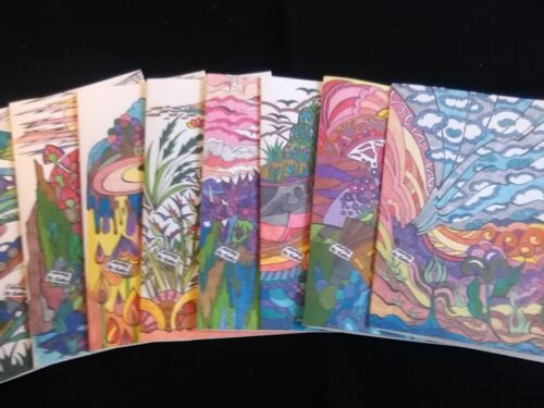 Dramatic LANDSCAPE themed Blank Note Cards Set of 8.