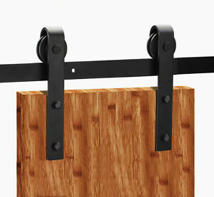 6 12 Ft High Quality Wood Sliding Barn Door Flat Hardware