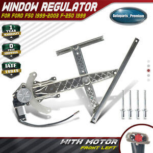 741-848 XL3Z1523209AA Front Left Driver Side Power Window Regulator with Motor Compatible for 1999-2003 Ford F-150 1999 F-250