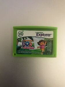 Leapster-Leap-Frog-Explorer-Nickelodeon-Dora-the-Explorer-cartridge-4-Leappad