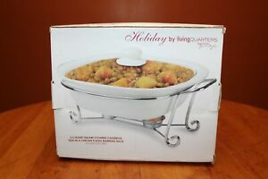 Holiday-by-Living-Quarters-2-5-Quart-Covered-Casserole-with-Warming-Rack-IOB
