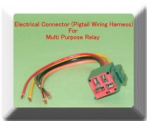 Details about 5 Wire Connector Wiring harness of Multi Purpose Relay on