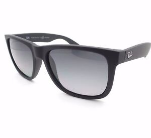 8538204ad AUTHENTIC Ray Ban Justin RB 4165 622/T3 Matte Rubber Black Polarized ...