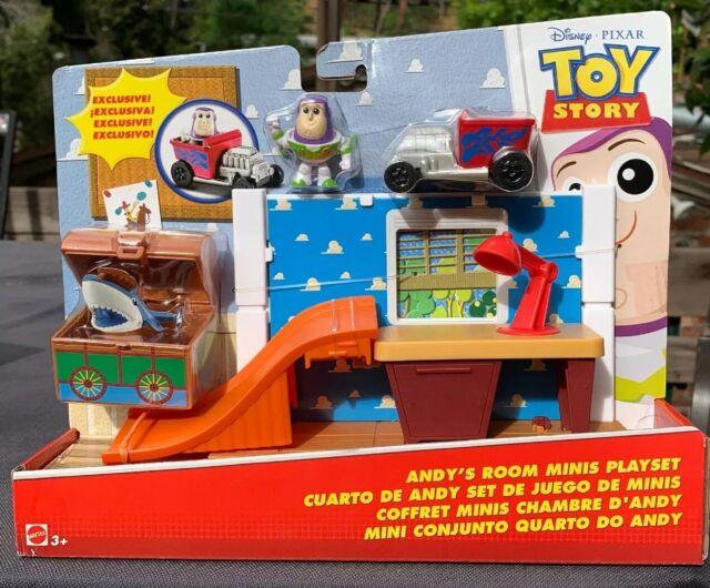Disney Pixar Toy Story Andy's Room Buzz Lightyear Mini Figure Playset NEW HTF