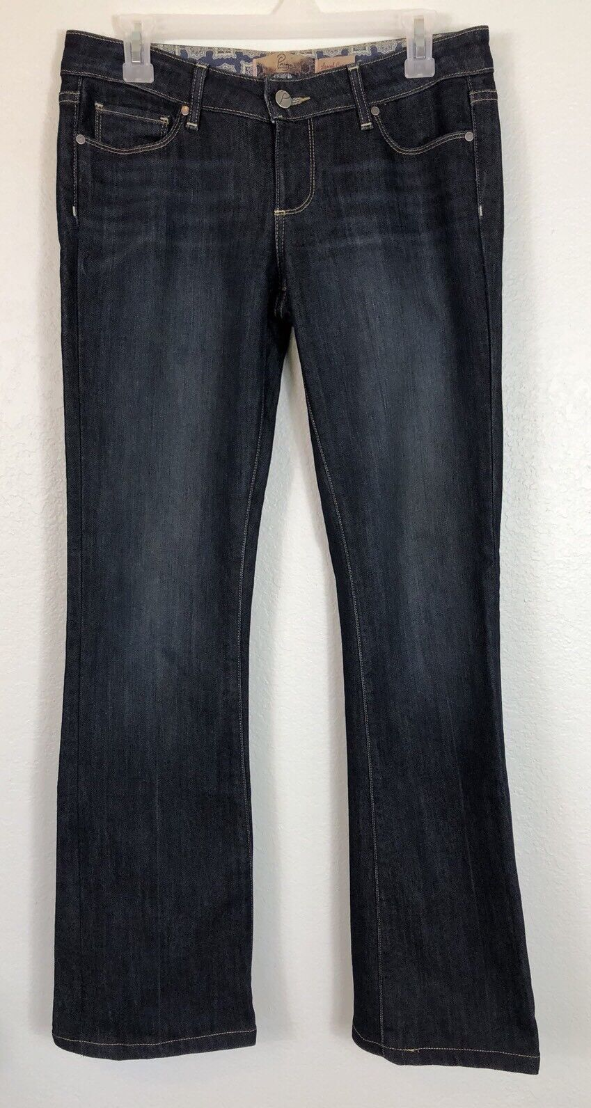PAIGE DENM Mid Rise Dark Wash Laurel Canyon Bootcut Jeans - Size 27