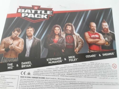 Sheamus /& Cesaro WWE Mattel Battle Pack serie 49 Steph /& Foley Miz /& Bryan