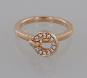 Boodles Diamond Roulette Flip Ring 18ct pink gold Size L 1 2